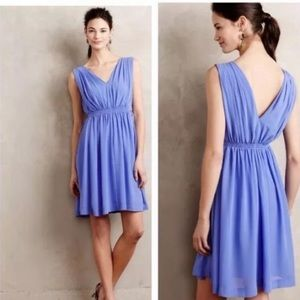 Anthropologie HD in Paris Blue Lavana Dress Sz 4P